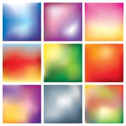 blur abstract background set - stock illustration