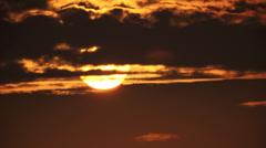 Sunset 0036 - Hawaii - stock footage