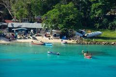 Jamaican Fishermen - stock photo