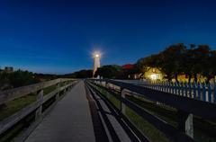 Ocracoke island at night scenery Stock Photos