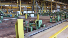 Tube rolling mill with equipment Stock Footage