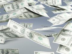 falling money - stock illustration