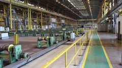 Rolls for tube rolling at pipe-rolling mill. Stopped for reconstruction Stock Footage