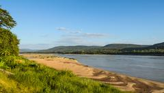 Mekong river in summer season, thailand Stock Photos