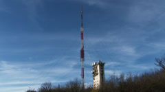 Stock Video Footage of Communication Receiver Transmitter Tower Antenna 1