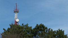 Communication Receiver Transmitter Tower Antenna 2 - stock footage