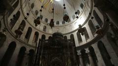 Church of the Holy Sepulchre in Jerusalem Stock Footage