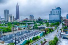 Downtown Atlanta, Georgia, USA horisonttiin. Kuvituskuvat