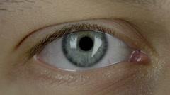 Eyes close-up macro Stock Footage