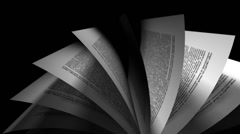 4k loopable animation of book's page turning. perfect for learning, wisdom an Stock Footage