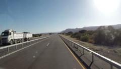 Road in Israel timelapse Stock Footage