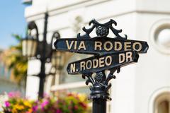 Rodeo Drive katukyltit Kuvituskuvat