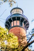Currituck beach lighthouse on the outer banks of north carolina Stock Photos