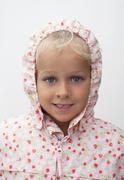 girl  with raincoat - stock photo