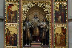 Altar in Zagreb cathedral - stock photo