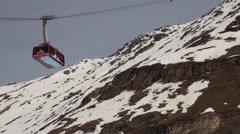 Cable Car at Ski Paradise Matterhorn Stock Footage