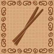 Stock Illustration of vector illustration of decorative cinnamon sticks