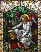 Angel guardian - stock photo
