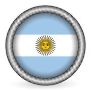 Argentina flag button Stock Illustration