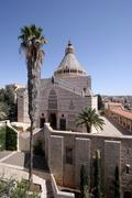 Basilica of the Annunciation, Nazareth, Israel Stock Photos