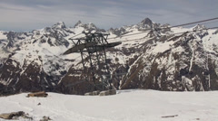 Glaciers at Ski Paradise Matterhorn Stock Footage