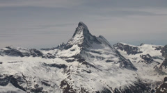 Ski Paradise Matterhorn and surrounding Glaciers. Stock Footage
