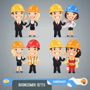 Businessmen cartoon characters set Stock Illustration