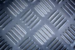 Blue metal list with rhombus shapes Stock Photos