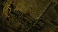 Underwater  German shipwreck Stock Footage