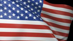 USA Flag Close Up Stock Footage