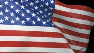 Stock Video Footage of USA Flag Close Up