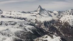 Glacier motion view at Ski Paradise Matterhorn Stock Footage