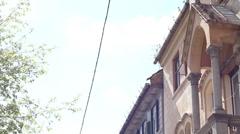 Old Buildings Street - stock footage