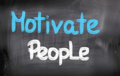 Motivate people concept Stock Illustration