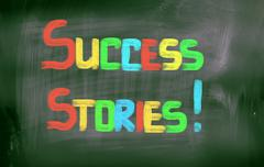 success stories concept - stock illustration