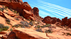 Chemtrails Over the Red Rocks Stock Footage