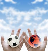 Stock Illustration of football world cup concept