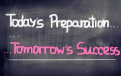Stock Illustration of today's preparation tomorrow's success concept