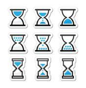 Hourglass, sandglass vector icon set Piirros