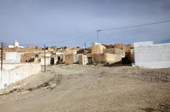 An Arab village of Matmata in Southern Tunisia Stock Photos