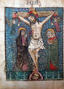 Crucifixion, Jesus dies on the cross - stock photo