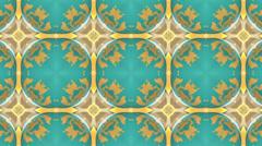 Blue kaleidoscope background, loop Stock Footage