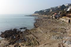 St Mawes Cornwall Cornish south coast of England UK - stock photo
