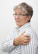 Old lady in pain Stock Photos