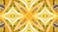 Gold kaleidoscope background, loop Footage