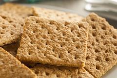 healthy honey graham crackers - stock photo