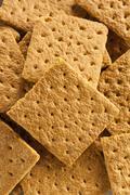 Healthy honey graham crackers Stock Photos