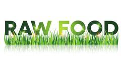 Green raw food message Stock Illustration