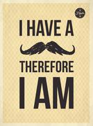 Hipster quotes-i have a moustrache Stock Illustration