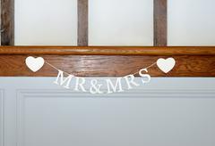 mr & mrs - stock photo